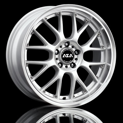 Asa Ar1 Srt4 17x7 Rims Set Silver W Machined Lip