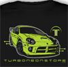 TurboNeonStore Superb Black T-Shirt