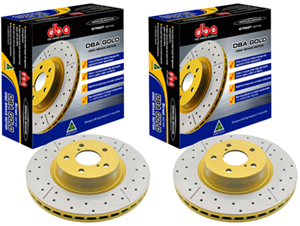DBA Street Series Drilled & Slotted Rear Rotors Set - Neon SRT-4