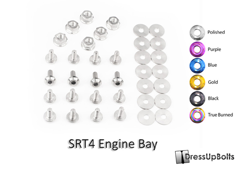 Dress Up Bolts Titanium Engine Bay Kit - Neon SRT-4