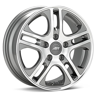 "American Racing Axl 18"" Machined w/Anthracite Accent Rims Set of 4 - Neon SRT-4"