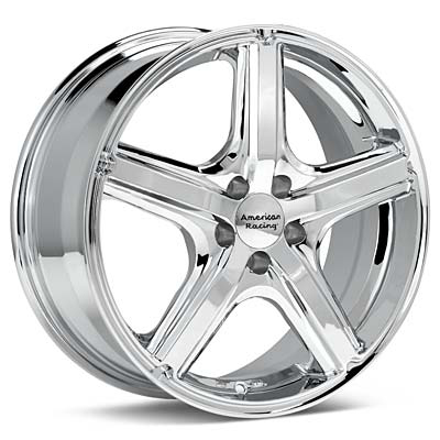 "American Racing Maverick 17"" Chrome Plated Rims Set of 4 - Neon SRT-4"