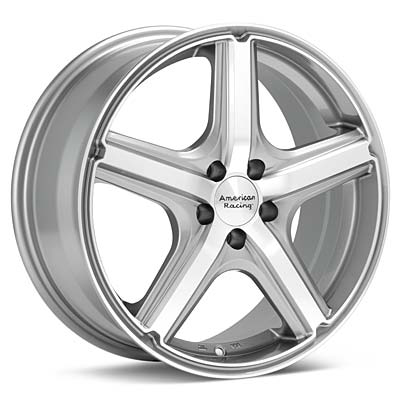 "American Racing Maverick 17"" Machined w/Anthracite Accent Rims Set of 4 - Neon SRT-4"