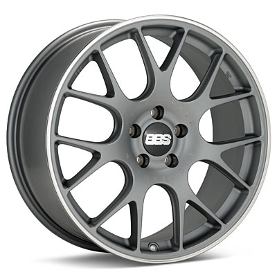"BBS CH-R 18"" Titanium w/Polished Stainless Lip Rims Set of 4 - Neon SRT-4"