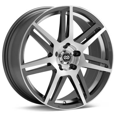 "Enkei Aletta 17"" Machined w/Anthracite Accent Rims Set of 4 - Neon SRT-4"