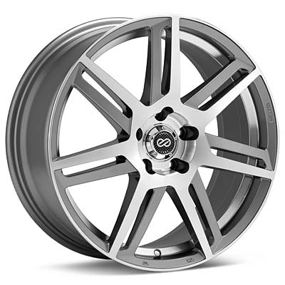 "Enkei Aletta 17"" Silver Machined w/Clearcoat Rims Set of 4 - Neon SRT-4"