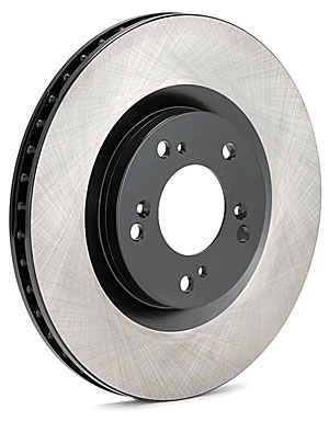 Centric High Carbon Plain 125 Series Cryo Treated Front Rotors - Neon SRT-4