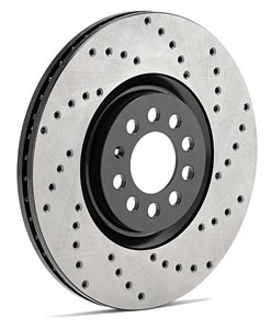 StopTech SportStop Drilled Rear Rotors - Neon SRT-4