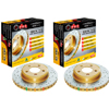 DBA 4000 Drilled & Slotted Rear Rotors Set - Neon SRT-4