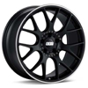 "BBS CH-R 18"" Black w/Polished Stainless Lip Rims Set of 4 - Neon SRT-4"