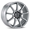 "Enkei EDR9 18"" Bright Silver Paint Rims Set of 4 - Neon SRT-4"